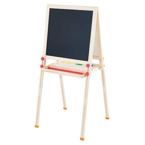 "Teamson Kids - Little Artist Vangogh Kids Easels - Wood / Red - 22""W x 21.65""L x 47.25""H"