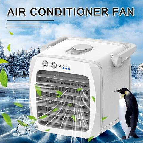 USB Charging Air Conditioner Fan Mini Cooler Portable Small Desktop Humidifiers Air Purifier Evaporative Cooling Fan