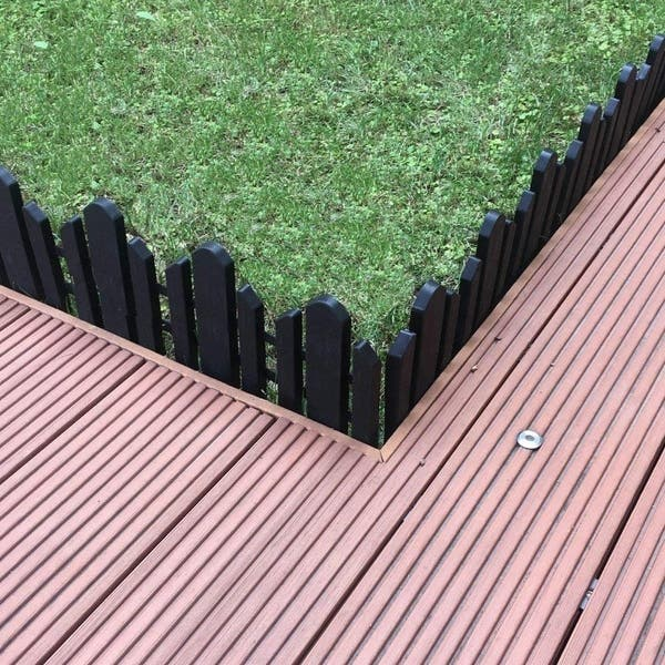 Recycled Plastic Resin Decorative Border Garden Edging Landscape Fence Set 6 Pieces 23 Inch X 6 Inch Black On Sale Overstock 28729819