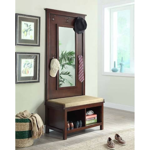 Camden Transitional Umber Hall Tree with Mirror