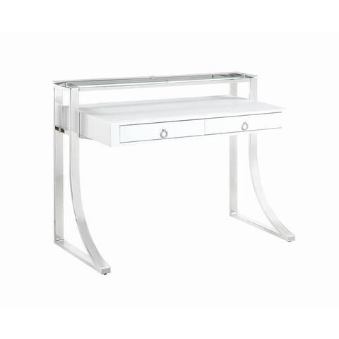 Serrano Glossy White Writing Desk