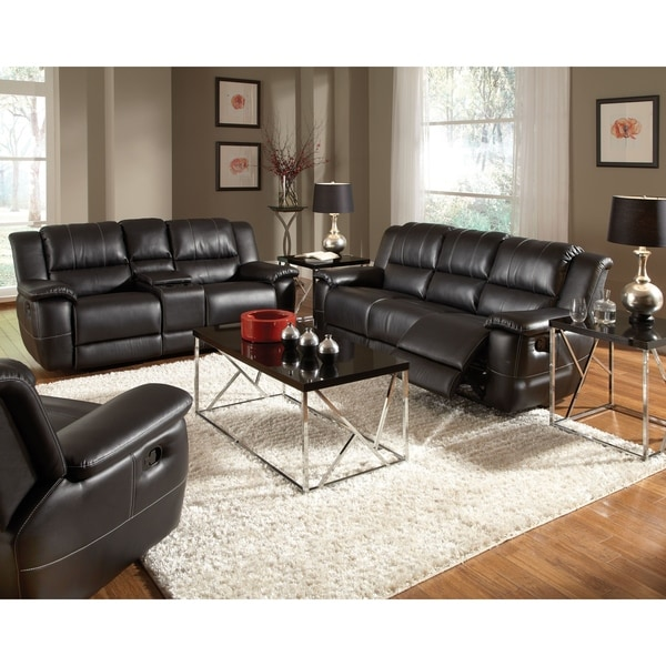 Quartermain Black 2-piece Reclining Living Room Set