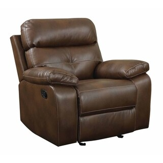 Alonzo Brown Faux Leather Recliner