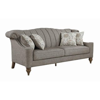 Crowley Traditional Beige and Brown Sofa