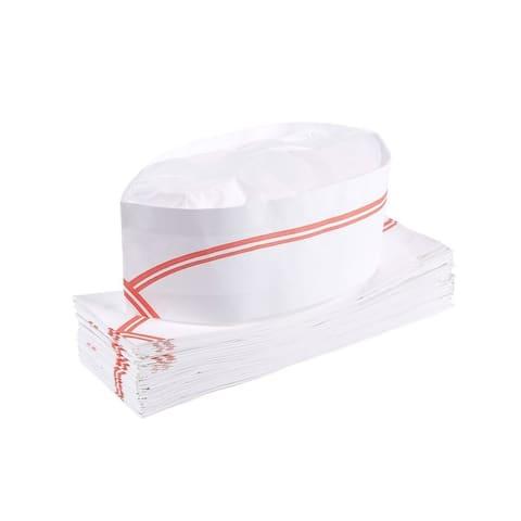 60-Pack Soda Jerk Paper Hats Disposable Retro Restaurant Chef Caps Food Server