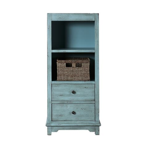 The Gray Barn Seychelles Rustic Blue Accent Cabinet