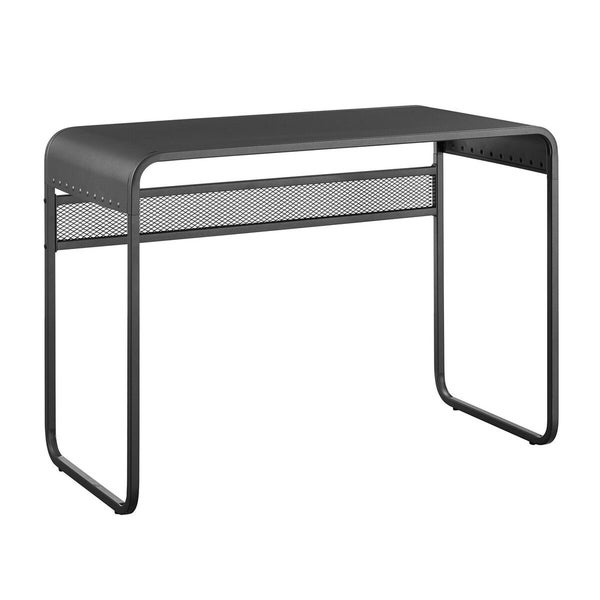 "Office Accents 42"" Metal Desk with Curved Top - Gunmetal Grey"
