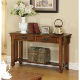 Madeira Traditional Oak Sofa Table