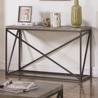 Montague Wood and Metal Sofa Table