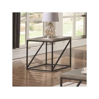Montague Wood and Metal End Table