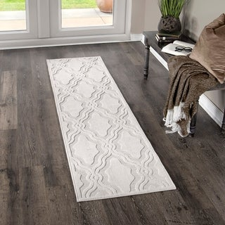 """My Texas House by Orian Indoor/Outdoor Cotton Blossom Natural Runner Rug - 1'11"""" x 7'6"""""""