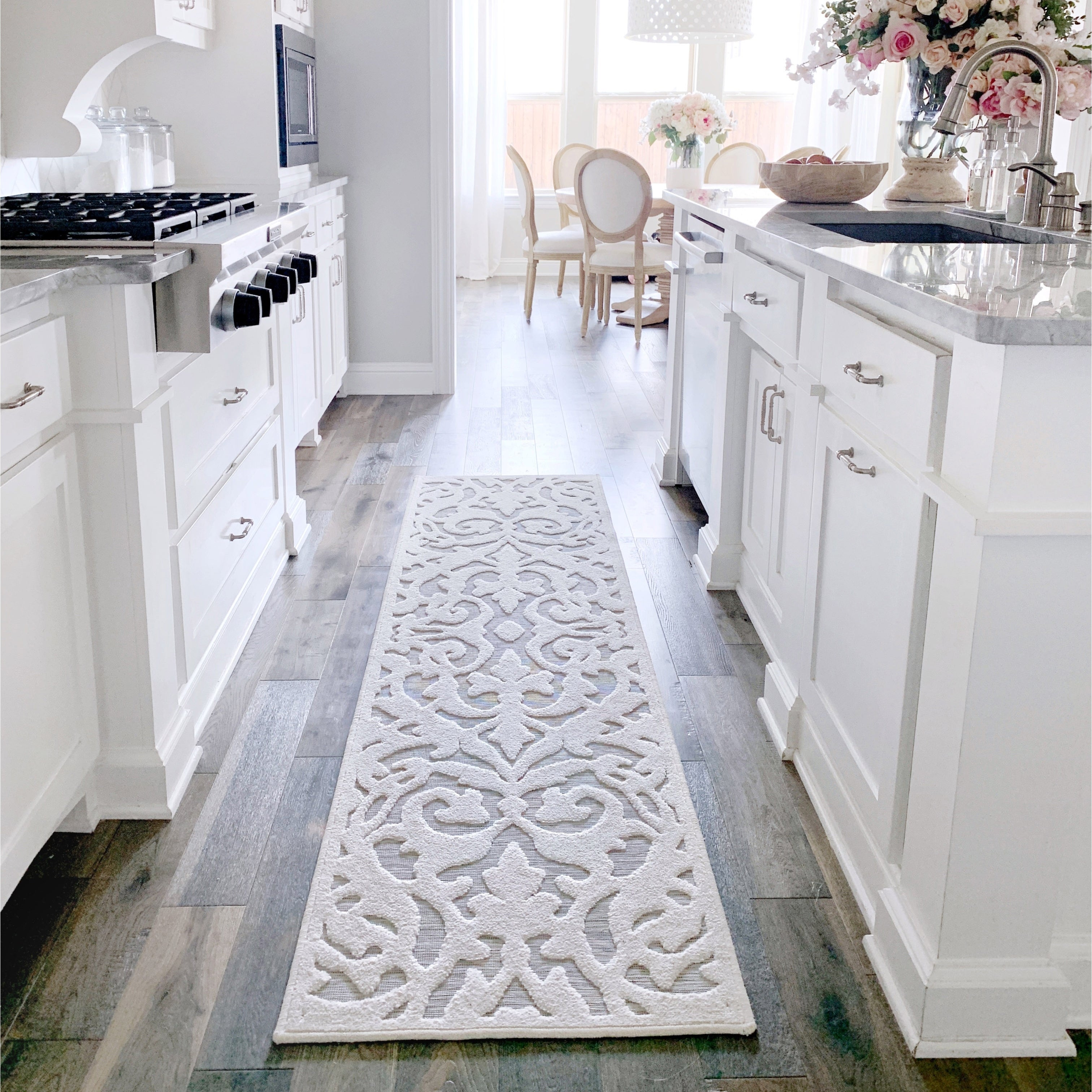 My Texas House By Orian Indoor Outdoor Lady Bird Natural Runner Rug 1 11 X 7 6