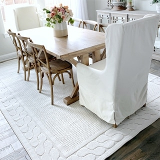 My Texas House by Orian Indoor/Outdoor Picket Fences Natural Area Rug - 9' x 13'