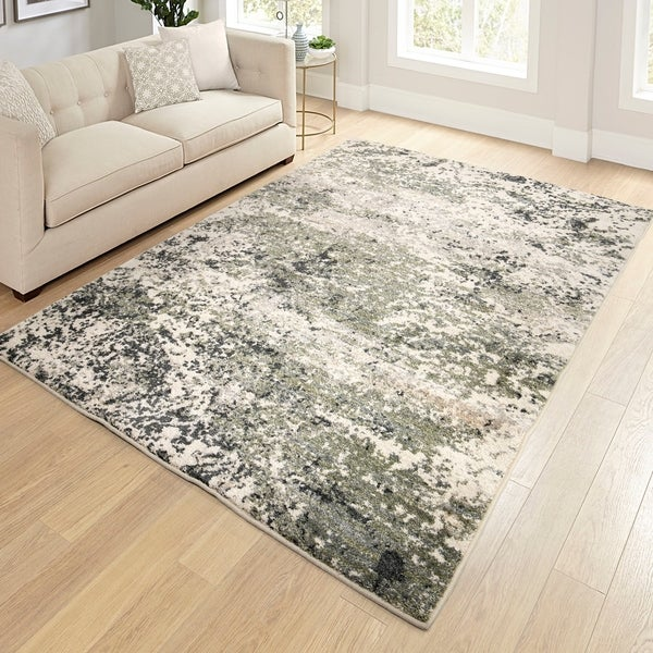 "Orian Reflections Storm Surge Soft White Area Rug - 5'3"" x 7'6"""
