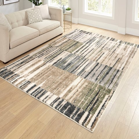 "Orian Reflections Lark Rise Cloud Gray Area Rug - 5'3"" x 7'6"""