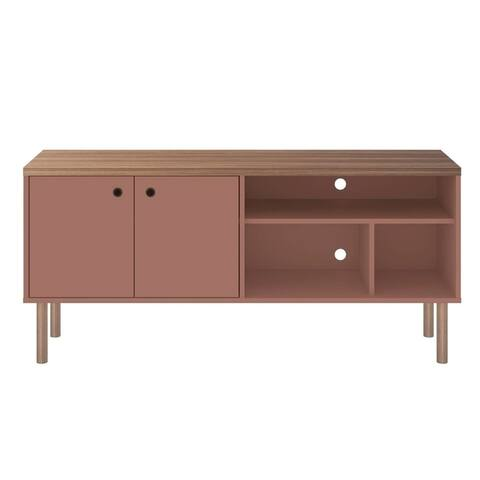 Carson Carrington Taberg Modern Solid Wood Leg TV Stand