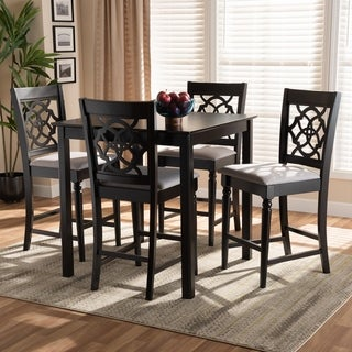 Arden Modern and Contemporary Upholstered 5-Piece Wood Pub Set
