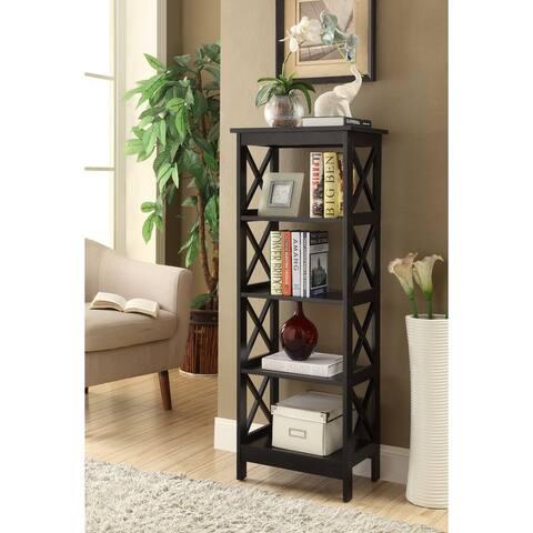 Copper Grove Segeberg Black 4-tier X-sided Bookcase