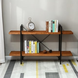 31in.H 2-Tier Wood Etagere Bookcase