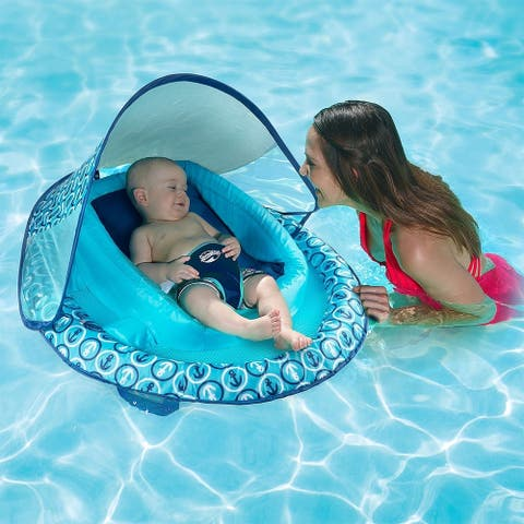 Swimways Infant Baby Spring Float Canopy - Blue