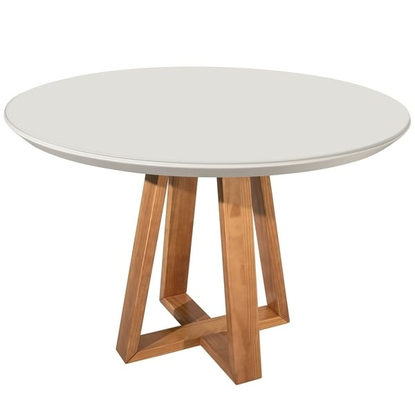 Duffy 45.27 Modern Off-White Round Dining Table. Opens flyout.