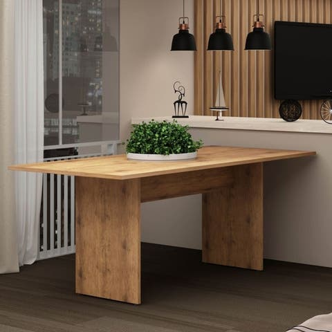 The Gray Barn Botarga Brown Rustic Country Dining Table