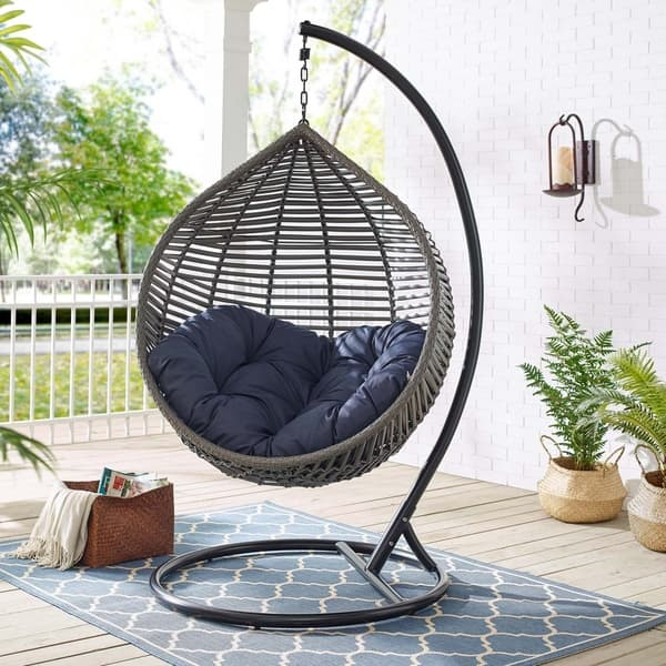 Peachy Shop Garner Teardrop Outdoor Patio Swing Chair Free Ocoug Best Dining Table And Chair Ideas Images Ocougorg