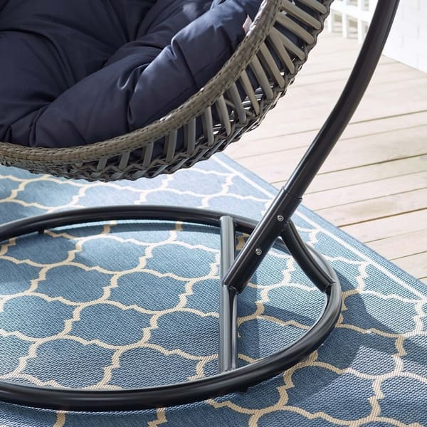 Admirable Shop Garner Teardrop Outdoor Patio Swing Chair Free Ocoug Best Dining Table And Chair Ideas Images Ocougorg