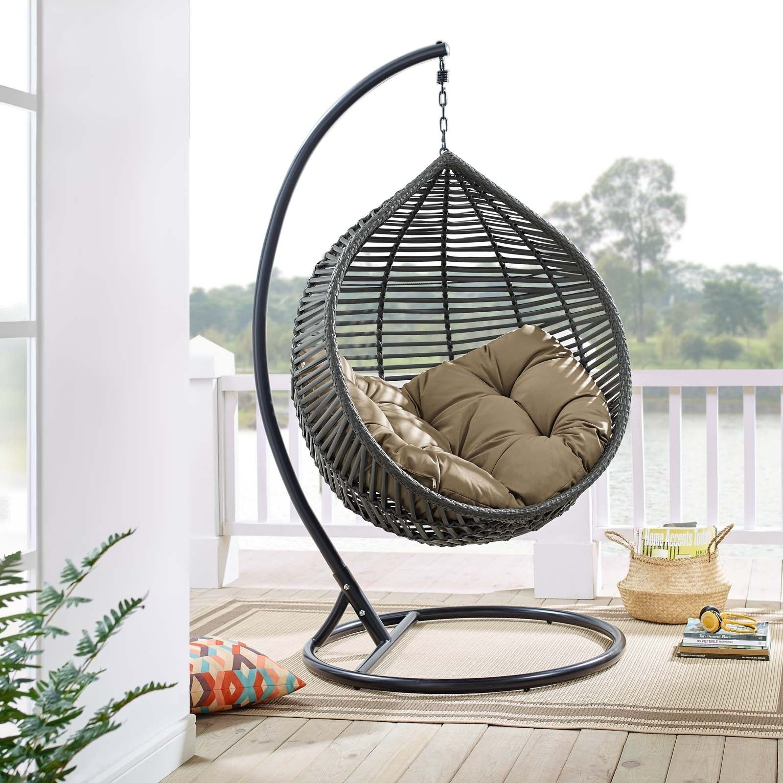 Surprising Garner Teardrop Outdoor Patio Swing Chair Ocoug Best Dining Table And Chair Ideas Images Ocougorg