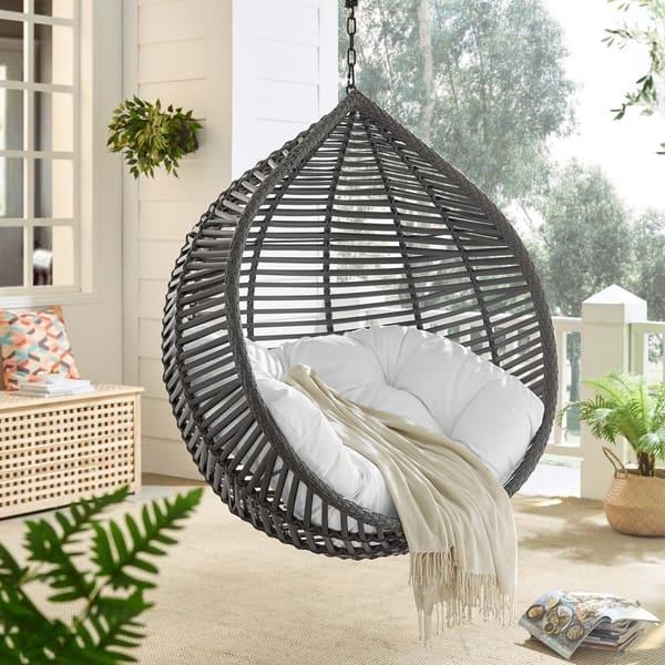 Iwal Teardrop Outdoor Patio Swing Chair By Havenside Home Overstock 28733939