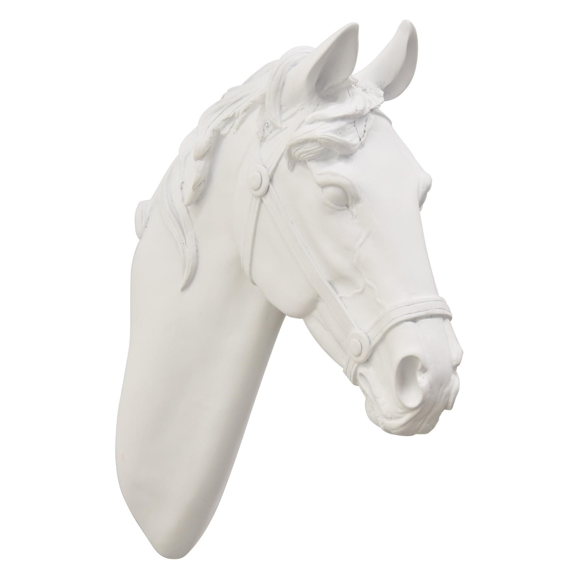 14 White Horse Head Wall Decor Overstock 28734164