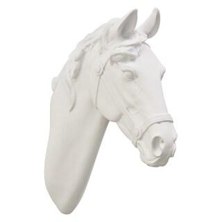 "14 "" White Horse Head Wall Decor"
