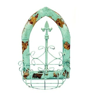 Turquoise Gothic Window Basket - N/A