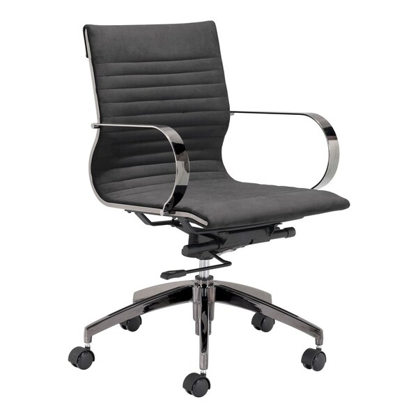 Kano Office Chair Gray Velvet