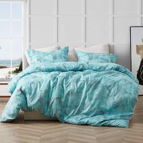 Brucht Designer Supersoft Oversized Duvet Cover - Tribeca - Steel/Aqua