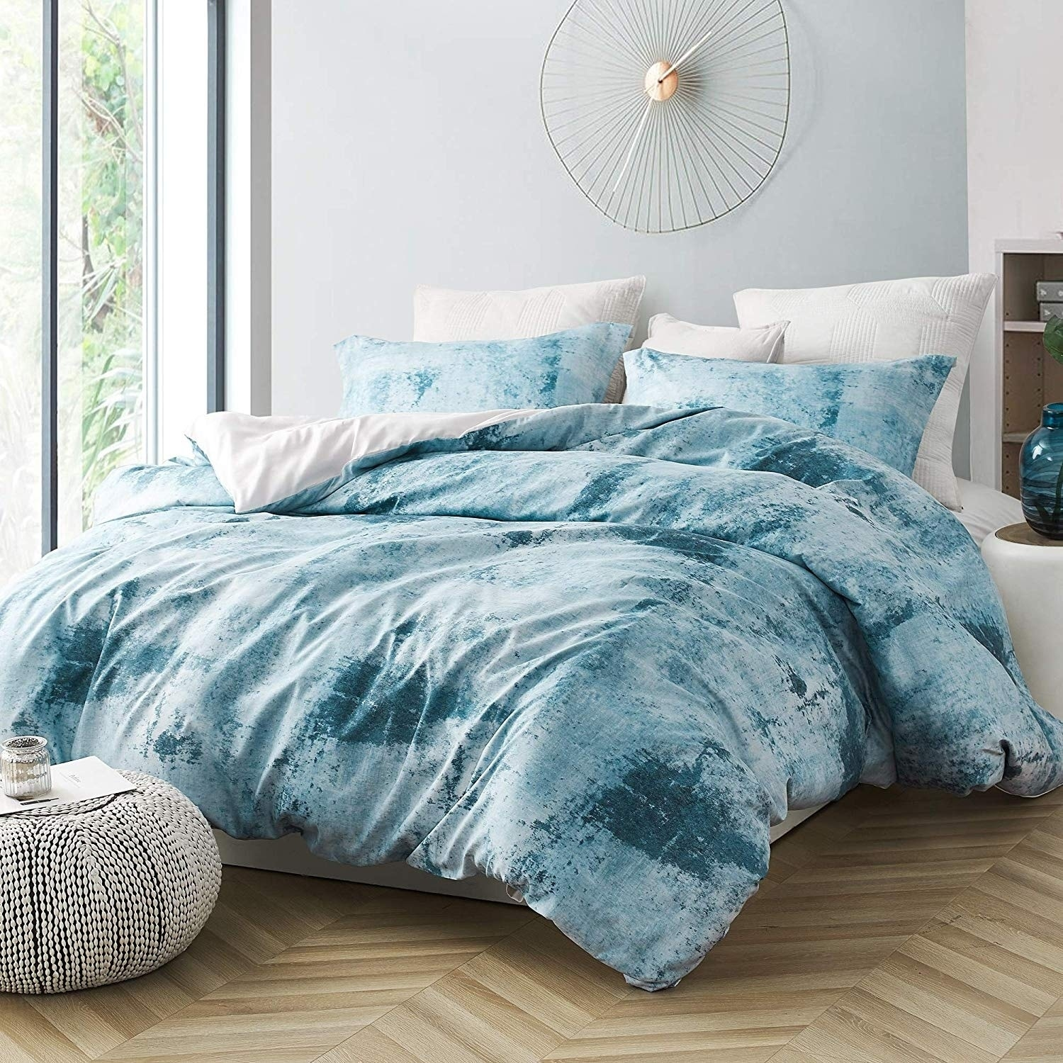 Brucht Designer Supersoft Oversized Duvet Cover Moonrise Blue Gray Overstock 28735691