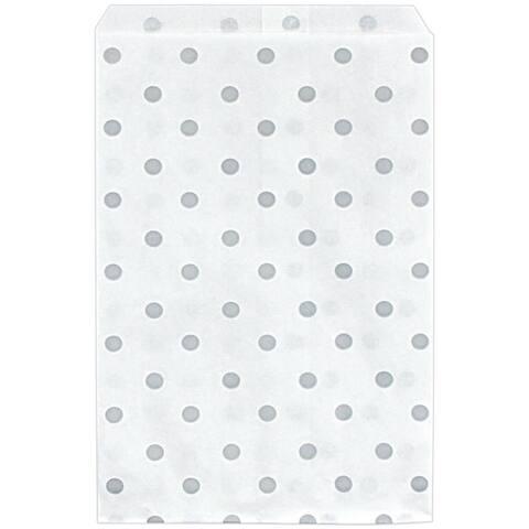 200 piece 6 x 9 inch Polka Dot Wedding Favor Bags