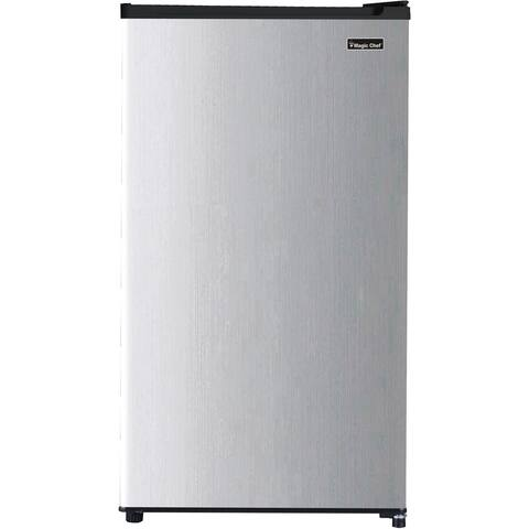 Magic Chef Energy Star 3.2-Cu. Ft. Compact All-Refrigerator in Platinum Steel