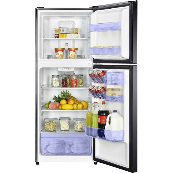 Shop Magic Chef Energy Star 10 1 Cu Ft Refrigerator With Top Mount Freezer In Black Overstock 28736113