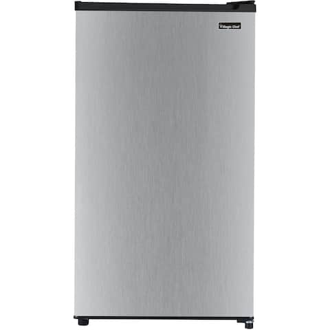 Magic Chef Energy Star 3.2-Cu. Ft. Compact All-Refrigerator with Stainless Steel Door