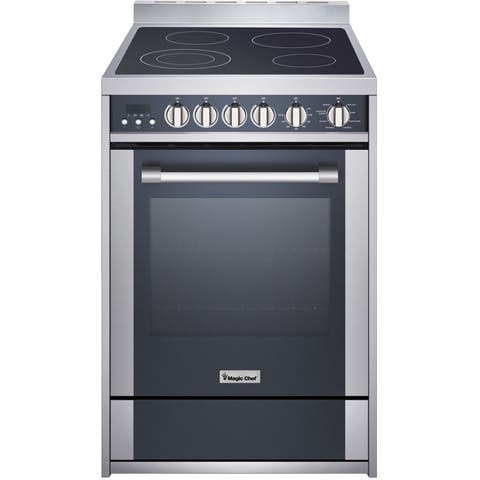 Magic Chef 24-In. Freestanding Electric Range with 2.2 Cu. Ft. Convection Oven