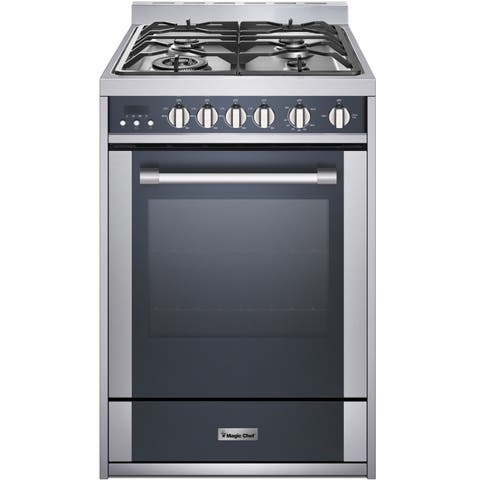 Magic Chef 24-In. Freestanding Gas Range with 2.7 Cu. Ft. Convection Oven