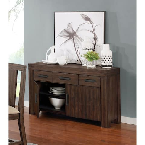 Best Quality Furniture Dark Walnut Rustic Dining Server Only