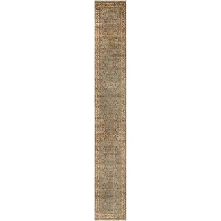 """Pasargad Home  Tabriz Collection Hand-Knotted Lamb's Wool Runner- 4' 2"""" X 29' 1"""""""