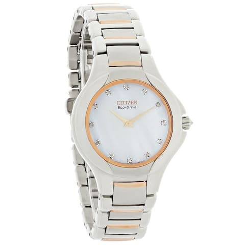 Citizen Women's EX1186-55D Fiore Two-Tone Stainless Steel Watch
