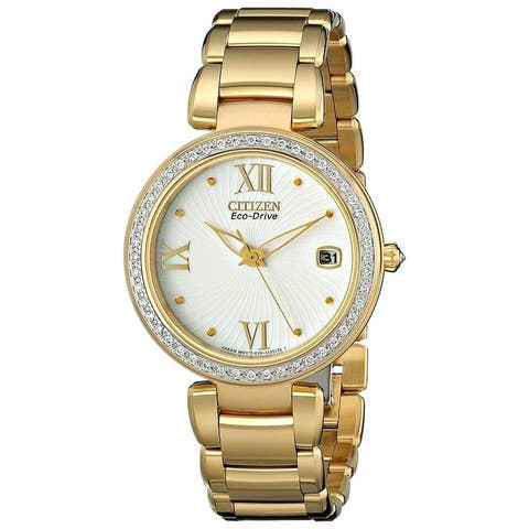 Citizen Women's EO1102-51A Marne Signature Gold-Tone Stainless Steel Watch
