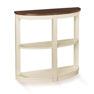 Solid Wood Bookshelf Demi Console Table