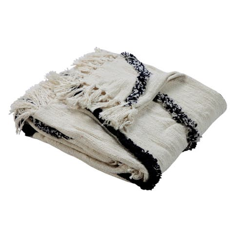 LR Home Grayscale Diamonds Throw Blanket