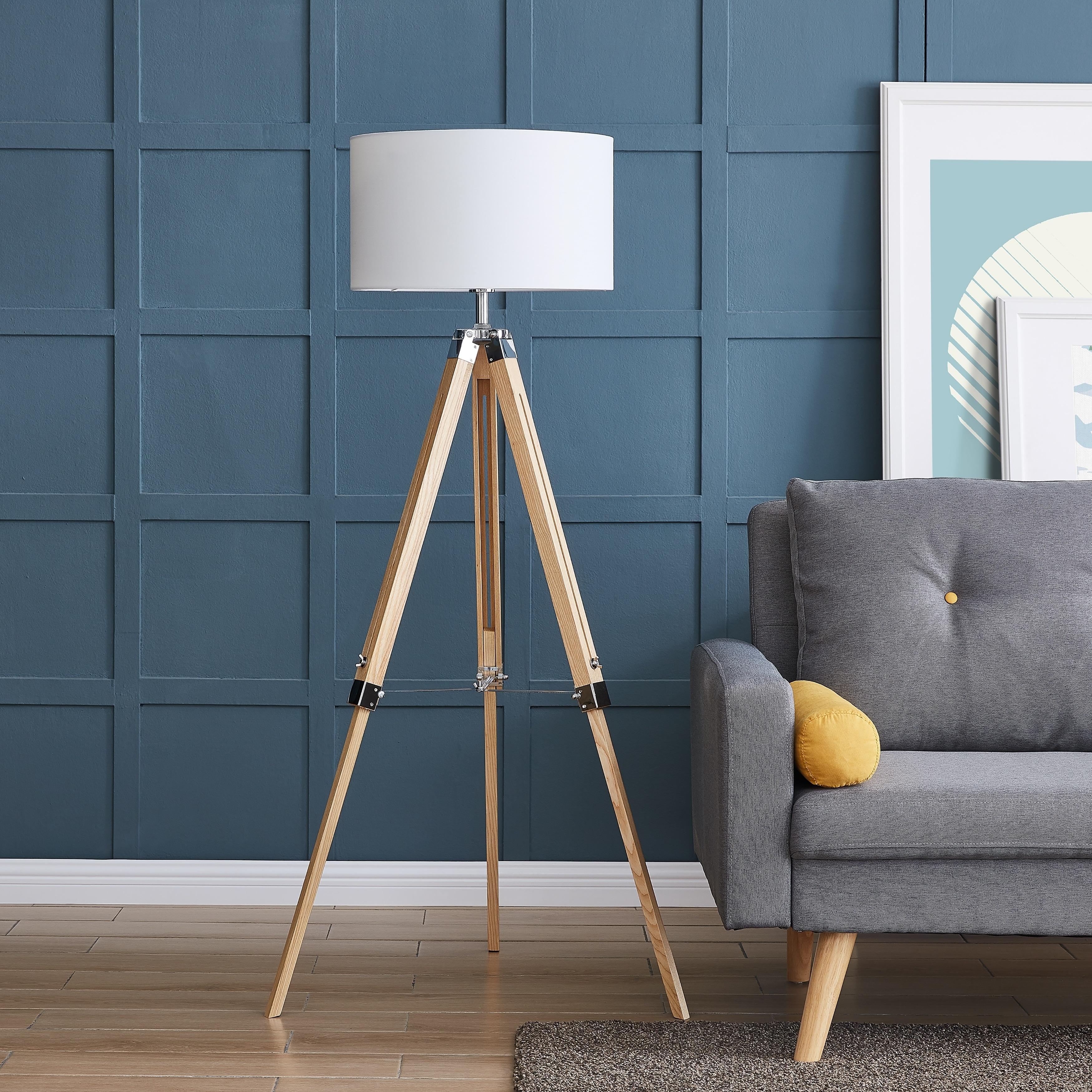 Carbon Loft Tarrington 57 Inch Natural Wood Floor Lamp
