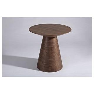 Pedestal walnut DANISH Wood Side Table